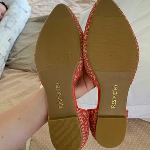 Restricted Shoes - Orange and Straw Flats